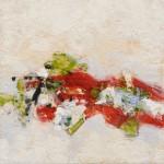 Volte rouge et verte(3), encaustique sur panneau 40x40