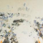 Valse bleue et blanche et grise, encaustique sur panneau, 80x60