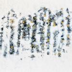 Gavotte variée avec une pointe de jaune, encaustique sur panneau, 80x60