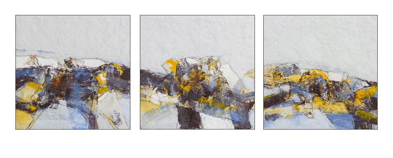 Paysage s pierre converset peintures for Tableau bleu et gris