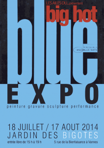 Affiche de l'expo Big Hot Blue