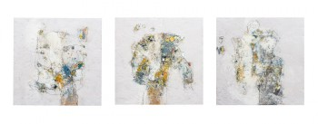 trois tableaux gris