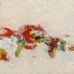 Volte rouge et verte(1), encaustique sur panneau 40x40