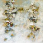 Villanelle pas piqué, encaustique sur panneau, 81x65