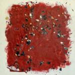 Cramignon rouge de Huy, encaustique sur panneau, 50x50