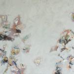 Shim sham sauvage et gris, encaustique sur panneau, 81x65
